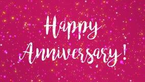 Vídeo feliz cor-de-rosa Sparkly do cartão do aniversário ilustração stock