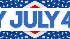Vídeo feliz do Dia da Independência do 4 de julho ilustração royalty free