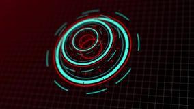 Vídeo futurista do fundo dos dados eletrônicos do projeto digital da tecnologia vídeos de arquivo