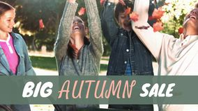 Vídeo gerado Digital da venda do outono filme