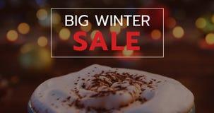 Vídeo gerado Digital da venda grande 4k do inverno video estoque