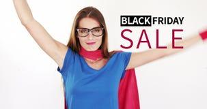 Vídeo gerado Digital da venda preta 4k de sexta-feira video estoque