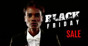 Vídeo gerado Digital da venda preta 4k de sexta-feira filme