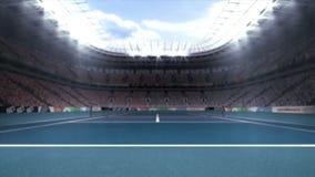 Vídeo gerado Digital do estádio do tênis ilustração stock