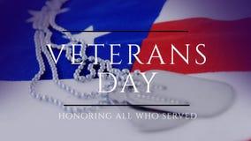 Vídeo gerado Digitas do dia de veteranos ilustração stock