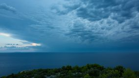 Vídeo hermoso del timelapse de Dalmacia, Croacia, Europa metrajes