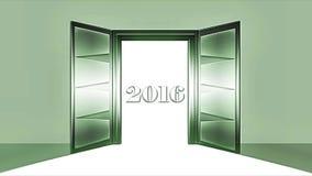 Vídeo - Illustration - Open Doors - New Year - 2016 stock video