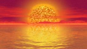 Vídeo inconsútil del lazo del paisaje del sol del Armageddon libre illustration