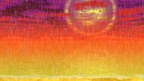 Vídeo inconsútil del lazo del paisaje del sol del Armageddon ilustración del vector