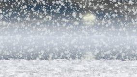 Vídeo inconsútil del lazo del paisaje Nevado stock de ilustración