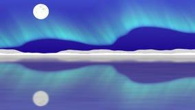 Vídeo inconsútil del lazo del polo ártico stock de ilustración