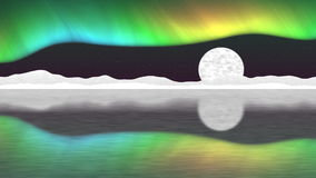 Vídeo inconsútil del lazo del polo ártico ilustración del vector