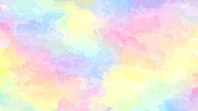 Vídeo inconsútil manchado animado abstracto del lazo del fondo - efecto de la acuarela - espectro a todo color lindo - rosa bebé, almacen de video