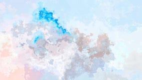 Vídeo inconsútil manchado animado del lazo del fondo - azul de cielo del efecto de la acuarela, blanco helado y colorn del gris d almacen de metraje de vídeo
