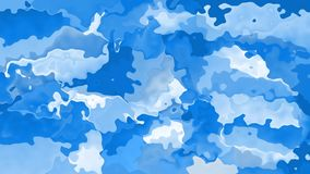 vídeo inconsútil manchado animado del lazo del fondo - color del azul de cielo con las nubes blancas almacen de video