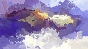 Vídeo inconsútil manchado animado del lazo del fondo - efecto de la acuarela - color blanco de marfil amarillo violeta púrpura stock de ilustración