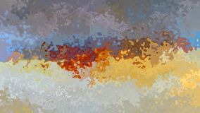 Vídeo inconsútil manchado animado del lazo del fondo - efecto de la acuarela - color blanco violeta, marrón, amarillo y de marfil ilustración del vector