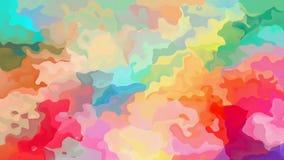 Vídeo inconsútil manchado twinging animado del lazo del fondo - efecto de la mancha de la acuarela - espectro a todo color del ar almacen de metraje de vídeo