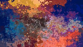 Vídeo inconsútil manchado twinking animado del lazo del fondo - efecto de la mancha de la acuarela - azul, ocre, amarillo, anaran almacen de metraje de vídeo
