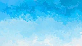 Vídeo inconsútil manchado twinking animado del lazo del fondo - efecto de la mancha de la acuarela - color del azul de cielo de l metrajes