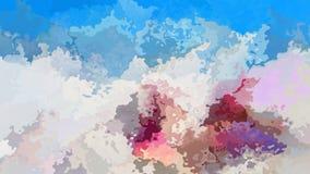 Vídeo inconsútil manchado twinking animado del lazo del fondo - efecto de la mancha de la acuarela - marrón de marfil beige gris  ilustración del vector