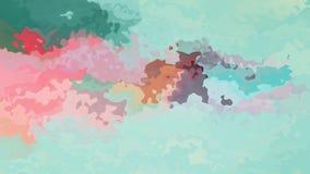 Vídeo inconsútil manchado twinking animado del lazo del fondo - efecto de la mancha de la acuarela - turquesa azulverde y color d almacen de metraje de vídeo