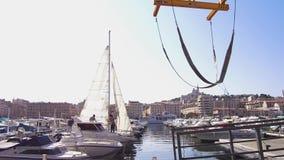 Vídeo 4K de los muelles del puerto de Marsella Vieux almacen de video