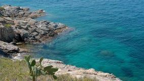 vídeo 4k de sorprender la laguna azul con agua azul tranquila almacen de metraje de vídeo