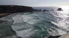 vídeo 4k do Praia a Dinamarca Zambujeira, Portugal filme