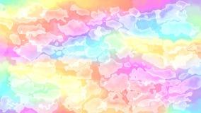 Vídeo manchado animado del fondo - colores completos del espectro en colores pastel del arco iris