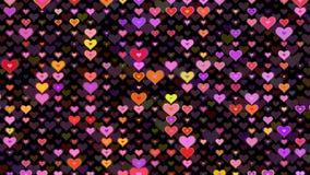 Vídeo moderno abstrato do fundo do movimento do teste padrão dos corações Animação do teste padrão do coração ilustração stock