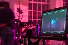 Vídeo musical del tiroteo. Fotografía de archivo libre de regalías