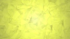 Vídeo poligonal bajo verde oliva amarillo 4K del fondo en el diseño elegante moderno popular 3D stock de ilustración