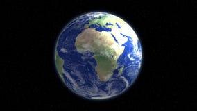 Vídeo realista de la animación 3d de la tierra del planeta ilustración del vector