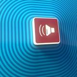 Vídeo, símbolo audio del volumen, botón, muestra colorida representación 3d libre illustration