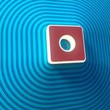 Vídeo, símbolo de registro del audio, botón, muestra colorida representación 3d libre illustration