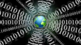 Vídeo: Tierra binaria del planeta de la red almacen de metraje de vídeo