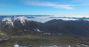 Vídeo verde do zangão do vale da montanha video estoque