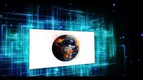 Vídeos animados de la tierra y de la comunidad internacional en fondo digital almacen de video