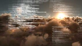 Vídeos composited Digital de textos borrosos ilustración del vector