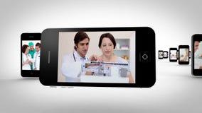 Vídeos de um hospital em smartphones