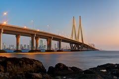 Vínculo Bombay del mar de Bandra Worli Fotografía de archivo