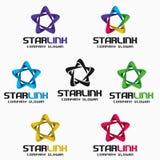 Vínculo de la estrella - estrella Logo Template del infinito 3D libre illustration