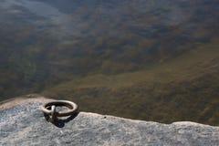 Vínculo del amarre por el lago imagen de archivo