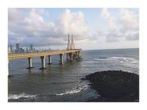 Vínculo del mar de Worli, Bombay la India Foto de archivo libre de regalías