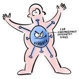 Vírus cromossomàtica integrado dentro do homem foto de stock