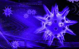 Vírus da gripe Foto de Stock