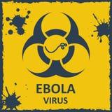 Vírus de ebola do vetor e sinal do biohazard Imagem de Stock
