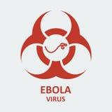 Vírus de ebola do vetor e sinal do biohazard Foto de Stock Royalty Free
