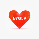 Vírus de Ebola no coração poli ilustração do vetor